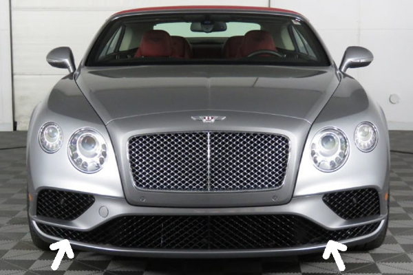 Genuine Bentley Continental GT/GTC 16-18 Lower Grille Set In Black